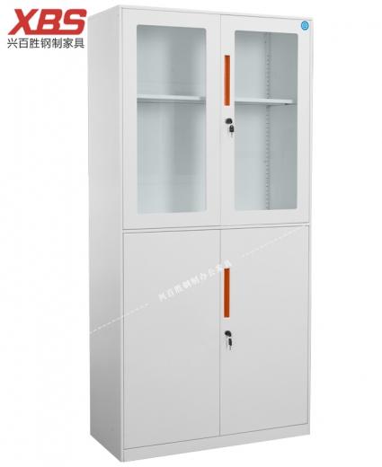 新款 上玻下铁器械文件柜 BS-016,兴百胜文件柜厂家