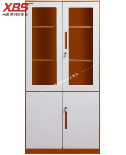 薄边双色文件柜 BS-009,钢制铁皮文件柜