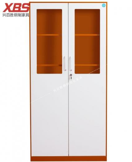 新款双色对开门文件柜 BS-09-1,钢制铁皮文件柜