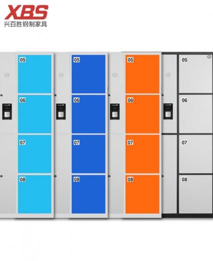 智能指纹储物柜寄存柜厂家定制,钢制铁皮储物寄存柜