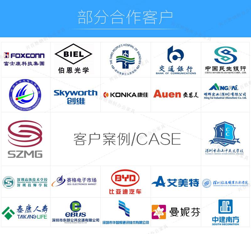 深圳兴百胜八门储物柜生产厂家,合作客户展示
