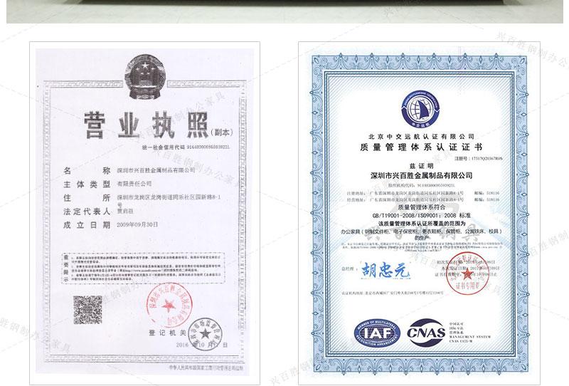 兴百胜八门储物柜生产厂家资质认证