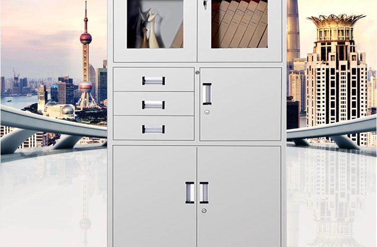 钢制铁皮文件柜尺寸展示